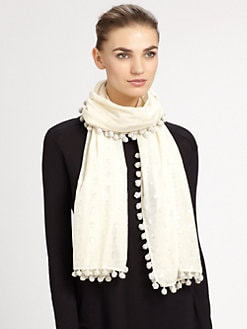 Tory Burch - Metallic Ikat Scarf