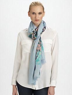 We Are Owls - Silk & Cashmere Flourishes Scarf