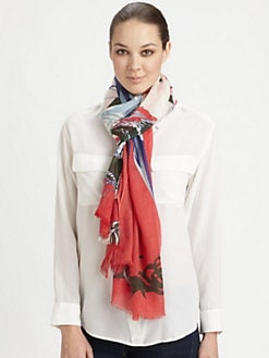 We Are Owls - Silk & Cashmere Birds of a Feather Scarf