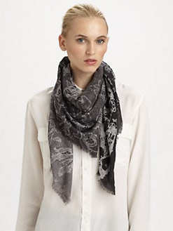 We Are Owls - Silk & Cashmere Ripped Lace Scarf