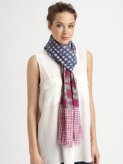 Marc by Marc Jacobs - Mixed-Print Cotton Scarf