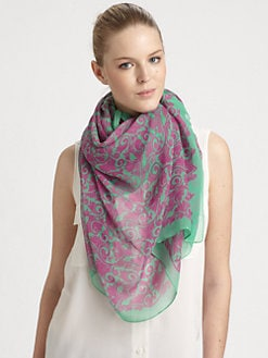 Marc by Marc Jacobs - Woven Tootsie Flower Scarf