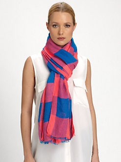 Marc by Marc Jacobs - Stacey Check Cotton Scarf