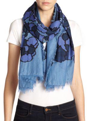 marc jacobs female 220183 petalprint cotton silk scarf