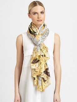 Alexander McQueen - Printed Silk Scarf