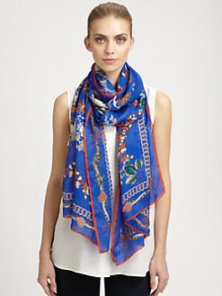 Roberto Cavalli - Silk Thalassa Printed Scarf