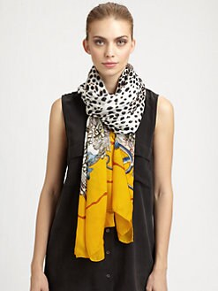 Roberto Cavalli - Silk Leopard Print Scarf