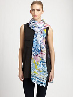 Roberto Cavalli - Silk Nausica Printed Scarf