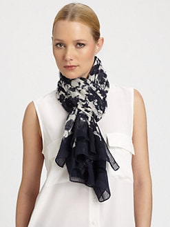 Tory Burch - Abbott Floral-Print Cotton Scarf