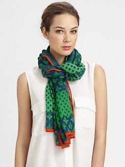 Tory Burch - Layton Mix Wool & Silk Scarf