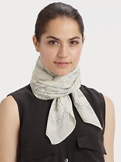 McQ Alexander McQueen - Silk & Cotton Bandana Scarf