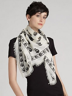 Alexander McQueen - Classic Chiffon Skull Scarf