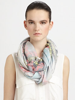 Cut 25 by Yigal Azrouel - Cashmere & Modal Tie Dye Scarf