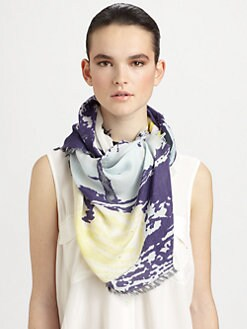 Cut 25 by Yigal Azrouel - Door Print Cashmere & Modal Scarf