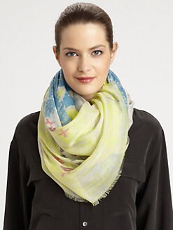 Yigal Azrouel - Map Printed Scarf