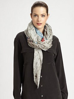 Yigal Azrouel - Stripe Crochet Print Scarf