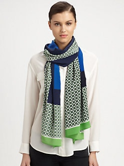 Tory Burch - Halland Silk Scarf