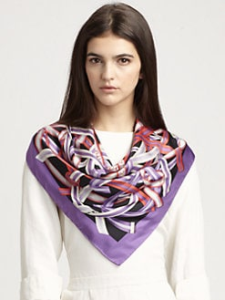 Gucci - Silk Astride Foulard Scarf