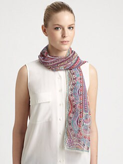 Etro - Silk Calcutta Fern Scarf