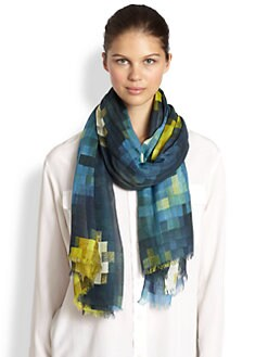 Marc by Marc Jacobs - Pixelated Print Scarf
