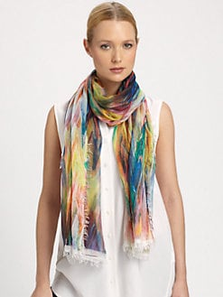 Bindya - Thunder Road Printed Silk & Cashmere Scarf