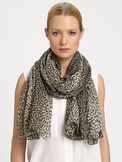 Saint Laurent - Leopard-Print Silk Scarf