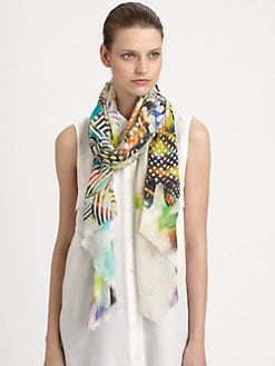 Tilo - Abstract Floral Scarf