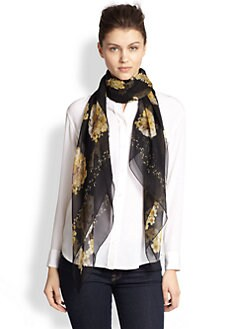 Alexander McQueen - Buttercup Silk Shawl