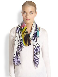 Mary Katrantzou - Silk Rodizio Stamp Scarf