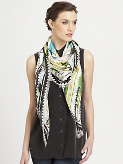 Mary Katrantzou - Silk Sorbonne Stamp Scarf