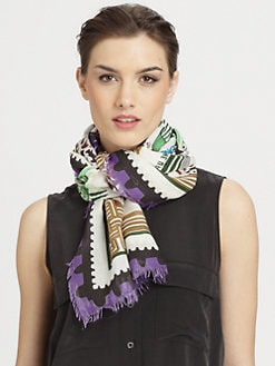 Mary Katrantzou - Silk Botanist Stamp Scarf