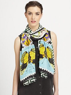 Mary Katrantzou - Silk Teleport Scarf