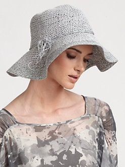 Armani Collezioni - Packable Raffia Hat