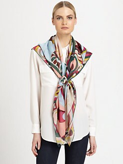 Emilio Pucci - Oversized Silk Crepe Print Scarf
