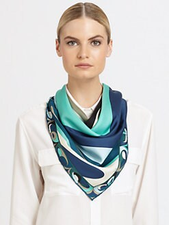 Emilio Pucci - Silk Square Yin Yang Scarf