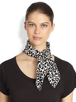 Mantero for Saks Fifth Avenue - Leopard Spot Silk Scarf