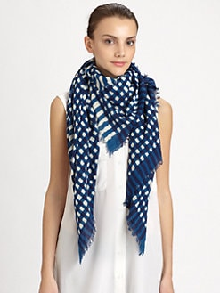 Marc by Marc Jacobs - Molly Check Cotton Scarf