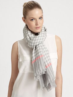 Marc by Marc Jacobs - Printed Mix Check Scarf