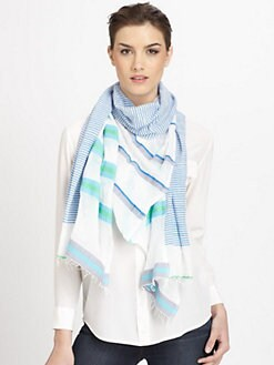 LemLem - Walsh Split Striped Scarf