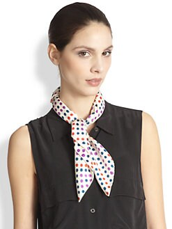 Mantero for Saks Fifth Avenue - Silk Twill Dot Print Neckerchief