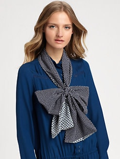 Stella McCartney - Circle Print Silk Scarf