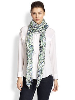 Stella McCartney - Silk-Blend Pattern Scarf