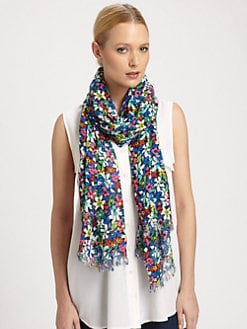 Kate Spade New York - Margerita Floral-Print Scarf