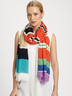 Kate Spade New York - Picnic Striped Scarf
