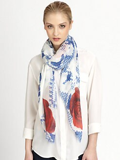 Athena Procopiou - La Broderie De Fleurs Scarf