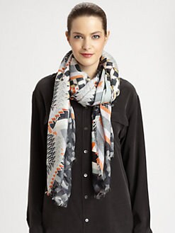 Peter Pilotto - Geometric Silk Scarf