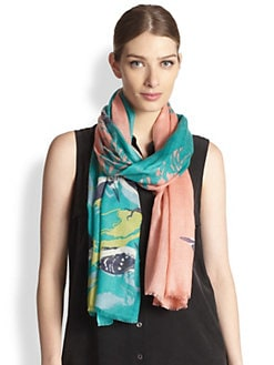 We Are Owls - Woody Bird-Print Scarf
