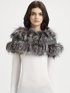 Gucci - Nayeli Fox Fur & Cashmere Capelet