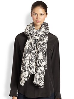 Marc by Marc Jacobs - Distressed Canvas Scarf