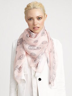 Alexander McQueen - Classic Silk Chiffon Skull Scarf